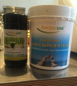 Natriumfreies Basen-Konzentrat & der Vital-Basendrink Diamond-Green