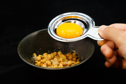 Raw Egg on Rice with Natto