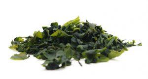eingeweichte geschnittene Wakame-Algen